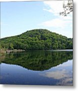 A Reflective View Of Round Pond At The United States Military Academy Metal Print