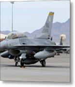 A U.s. Air Force F-16c Fighting Falcon Metal Print