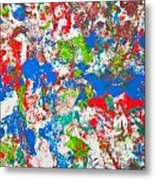 Abstract Colorful Painting Background Metal Print