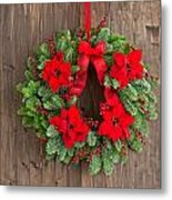 Advent Wreath With Winter Rose Metal Print