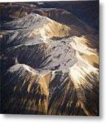 Aerial Mountains Metal Print