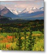 Alaska Range In Autumn, Taiga, Tundra Metal Print