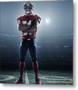 American Football In Action Metal Print