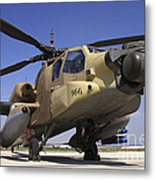 An Ah-64a Peten Attack Helicopter Metal Print