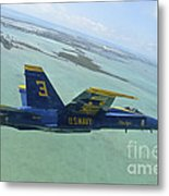An Fa-18 Hornet Of The Blue Angels Metal Print