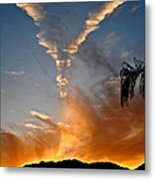 Angel Wings In The Sky Metal Print