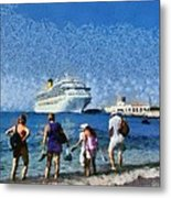 At The Old City Of Rhodes Metal Print