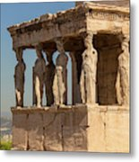 Athens, Attica, Greece. Porch Metal Print