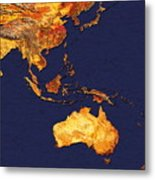 Australasia And South-eastern Asia Metal Print