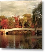 Autumn At Bow Bridge Metal Print