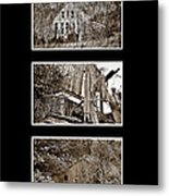3 Barns Vertical Metal Print