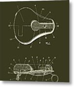 Bicycle And Motorcycle Seat 1925 Patent Metal Print
