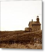 Block Island North Lighthouse Metal Print