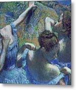 Blue Dancers Metal Print