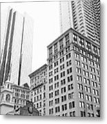 Boston Cityscape Metal Print