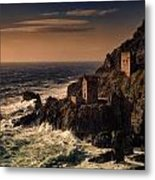 Botallack Tin Mine Metal Print