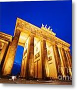 Brandenburg Gate Berlin Germany Metal Print