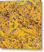 Bull Kelp Blades On Surface Background Texture Metal Print