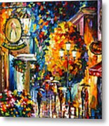 Cafe In The Old City Metal Print
