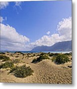 Caleta De Famara Beach On Lanzarote Metal Print