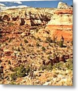 Calf Creek Falls Canyon Metal Print