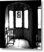 3 Castle Rooms Bw Metal Print
