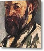 Cezanne, Paul 1839-1906. Self-portrait Metal Print
