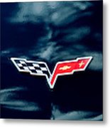 Chevrolet Corvette Emblem Metal Print