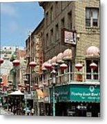 Chinatown In San Francisco Metal Print