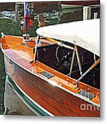Chris Craft Runabout On Geneva Metal Print