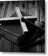 Christian Cross And Rusty Nails Metal Print