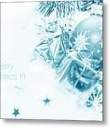 Christmas Balls Decoration Metal Print