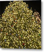 Christmas Tree Ornaments Faneuil Hall Tree Boston Metal Print