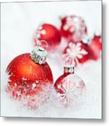 Christmas Decorations Metal Print