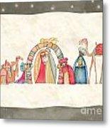 Christmas Nativity Scene Metal Print