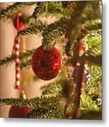 Christmas Tree Ornaments Metal Print