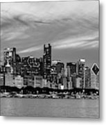 City At The Waterfront, Lake Michigan Metal Print