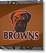 Cleveland Browns Metal Print by Joe Hamilton