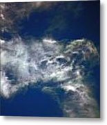 Cloaked Craft Cloud Photograph  Metal Print