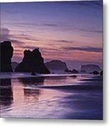 Coastal Reflections Metal Print by Andrew Soundarajan