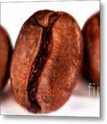 3 Coffee Beans Metal Print