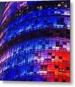 Colorful Elevation Of Modern Building Metal Print