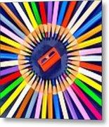 Colorful Pencils Metal Print