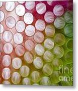 Colorful Straws Metal Print