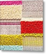 Colorful Textile Metal Print