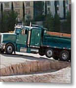Construction Truck Metal Print