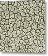 Cracked Dry Clay Metal Print