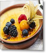 Creme Brulee Dessert Metal Print by Elena Elisseeva