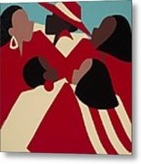 Crimson And Cream Metal Print