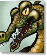 Crocodile Metal Print